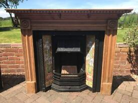 Stovax Victorian Fireplace with wooden surround
