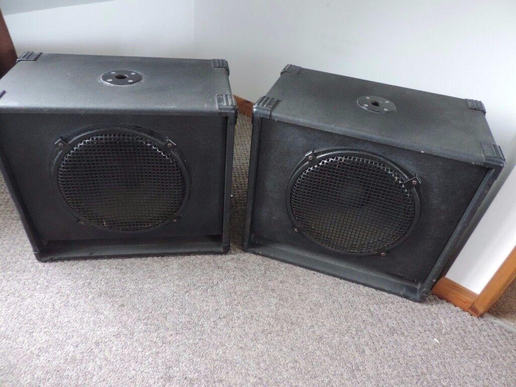 Pair of Disco Bass Speakers