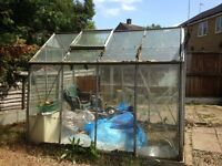 For Sale is this 6ft x 4ft Aluminium Glass Greenhouse