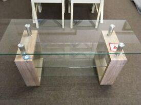 New Sonoma Oak and Glass TV Unit.