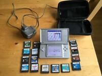 Silver DS Light + 15 Games..