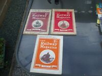 3 ISSUES THE RAILWAY MAGAZINE 1908 1929 1936