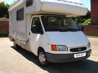 FORD TRANSIT LEFT HAND DRIVE 2.5 TURBO DIESEL MOTORHOME VERY RARE MODEL MINT CONDITION 12 MONTHS MOT