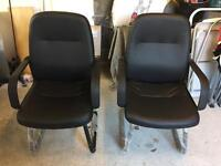 Office chairs with matching highback, brand new!