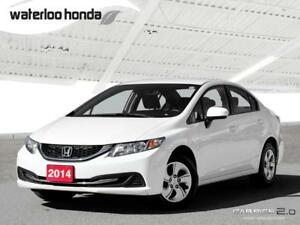 2014 Honda Civic LX One Owner. Bluetooth, Automatic, A/C and...
