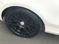 4 Black 18 inch alloy wheels