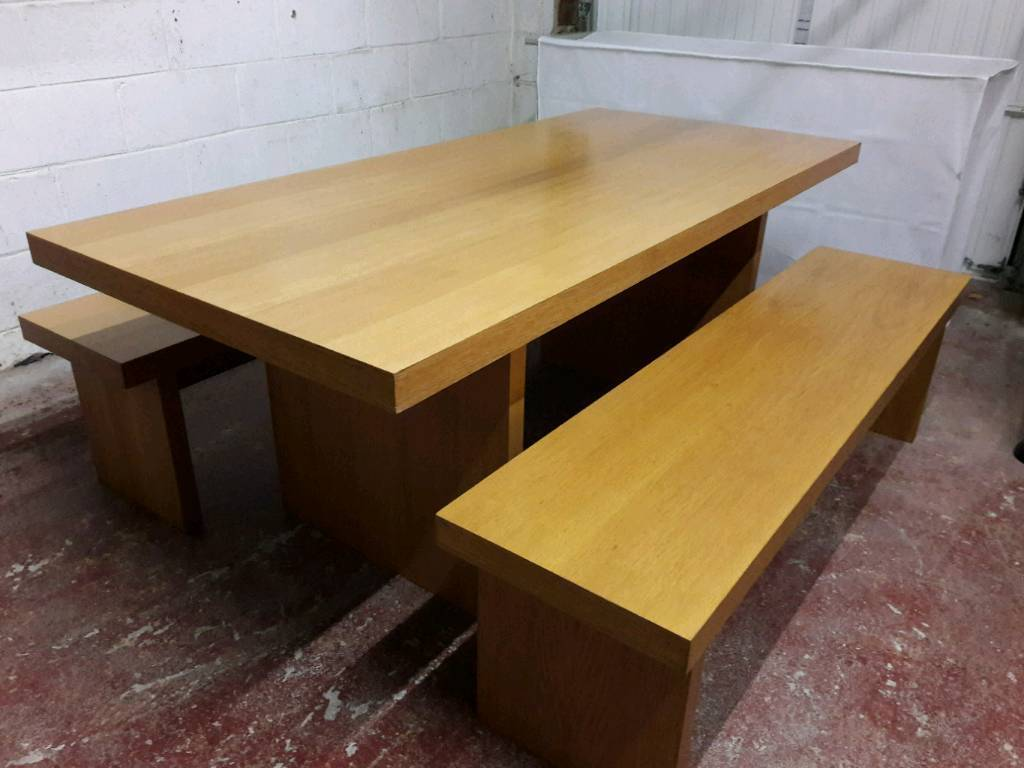 Dining / kitchen table and benches