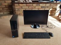 Lenovo ideacentre 510s desktop pc with hp 22 inch monitor