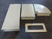 Ducting - Flat Channel - New - Unused - 204 mm by 60 mm