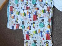 Toddler cot bed duvet/sheets £12