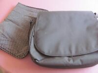 Baby changing bag with changing mat.