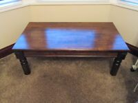 LOW RIDE WOODEN COFFEE TABLE MAHOGANY- SUITABLE FOR UPCYCLING