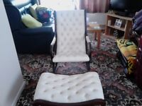 rocking slipper chair and matching foot stool