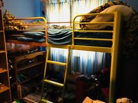 Redesigned bunk bed made into cabin bed type. .