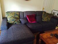 New corner grey sofa very modern