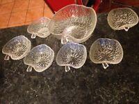 Apple shaped glass bowls