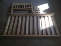 Solid wood child's bed