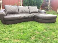 As new with tags brown leather modern corner sofa. Stunning settee Free delivery