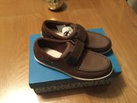 BNIB Clark's brown shoes for boys - size 3.5G