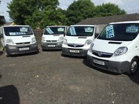 FOR SALE VAUXHALL VIVARO, RENAULT TRAFIC, FORD TRANSIT, CITREON RELAY, WIDE RANGE OF COMMERCIAL VANS