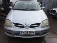 2005 Nissan Almera Tino Se 5dr Hatchback 1.8L Petrol Silver BREAKING FOR SPARES