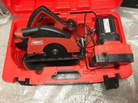 For sale Hilti WSC 70-A36 in good working condition WITH A 36 VOLT BATTERY