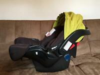 Grace Car Seat And Base - Excellent Condition Fully Cleaned Ready To Use