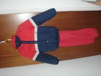 skiing jacket and salopettes for child 140cm tall