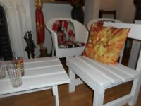 table garden chair set