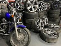 "18"" inch genuine Audi s3 alloys wheels 5x112 a3 tt Vw caddy golf passat cc"