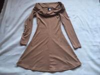 H&M Beige Ladies Dress Size S(8) used £4