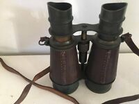 binoculars 2 pair one 1907 field and other japanese, telemax 7x50s leather case