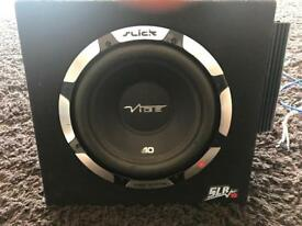 10 inch vibe slick subwoofer with amp
