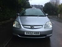 Honda civic VETEC SE for sale, MOT, only 2 former keepers, drives good, cheap.