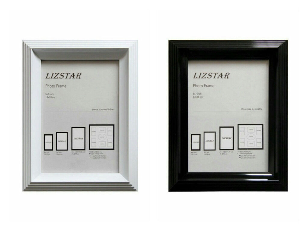BRAND NEW WHOLESALE CLEARANCE PHOTO FRAME Black & White Photo Picture Frame with Safety Glass