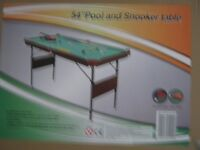 "54"" Pool and Snooker Table"