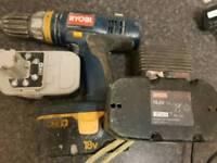 Ryobi 18v cordless drill 3x battries