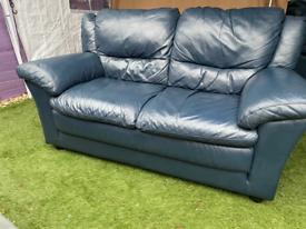 2×2 Seater blue sofas