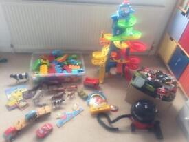 Childrens toy bundle inc mini Henry, fisher price skywalk, duplo lego, cars etc