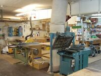 Bench spaces available in lovely shared furniture making workshop in Dalston