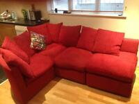 MODERN CORNER SOFA plus FOOTSTOOL