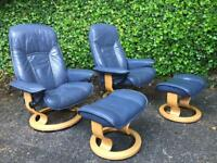 Ekornes Stressless blue armchair can arrange delivery