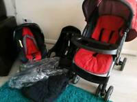 Mothercare travel system - pushchair, carseat & base