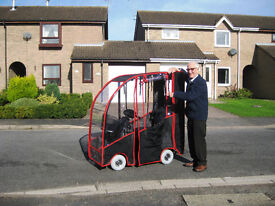 TGA Mobility scooter +tailor-made Vinyl Values Canopy .Top speed 6mph.