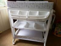 Changing table/ trolley with baby bath