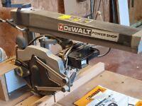 Dewalt single phase radial arm saw model DW1251