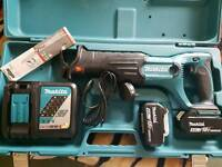 Makita 18V 2x4.0Ah Li-ion LXT Reciprocating Saw Kit - DJR182RME NEW