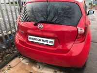 BREAKING NISSAN NOTE 2015 1.2 PETROL SUPERCHARGED MANUAL