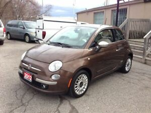 2012 Fiat 500 Lounge Two Tone Leather