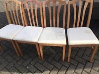 4 X dining chairs-Free delivery
